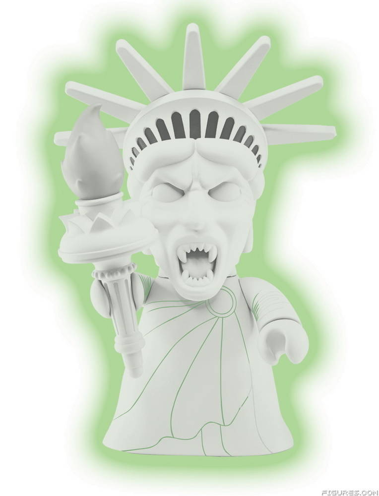 "8"" Statue of Liberty Weeping Angel TITANS Figure (GLOW VARIANT)"