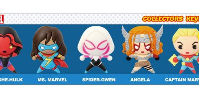 Marvel Woman 3D Foam Keyring 5pc Set-Rendering-01