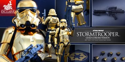 Star Wars - Stormtrooper (Gold Chrome Version) Collectible Figure PR_8