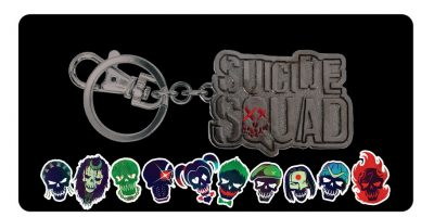 Suicide Squad Pewter Keyring Box Set-boxview_SS logo