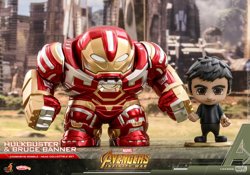 Hot Toys - AIW - Hulkbuster & Bruce Banner Cosbaby (S) collectible set_PR1