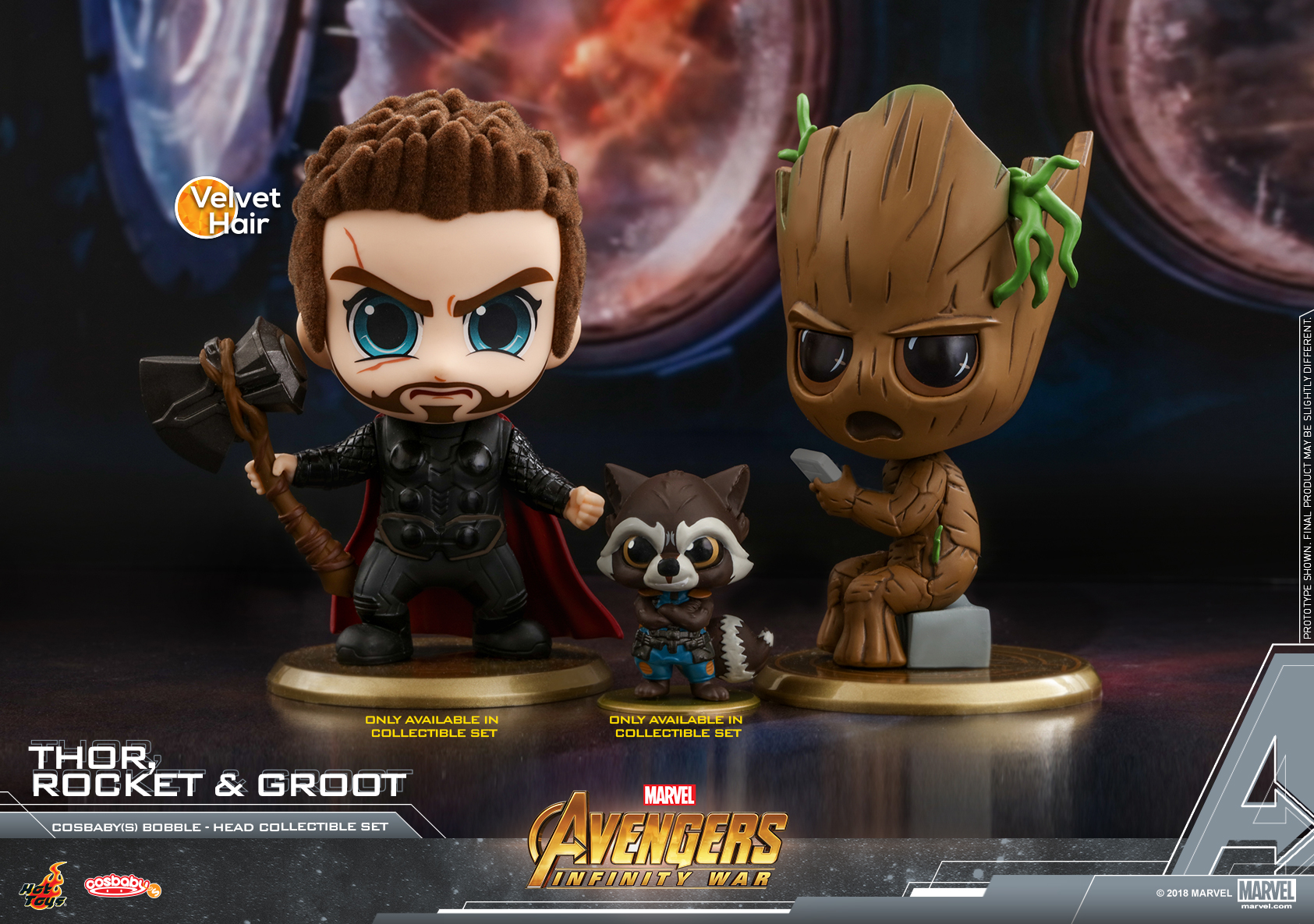 Hot Toys - AIW - Thor, Rocket & Groot Cosbaby (S) Collectible Set_PR1