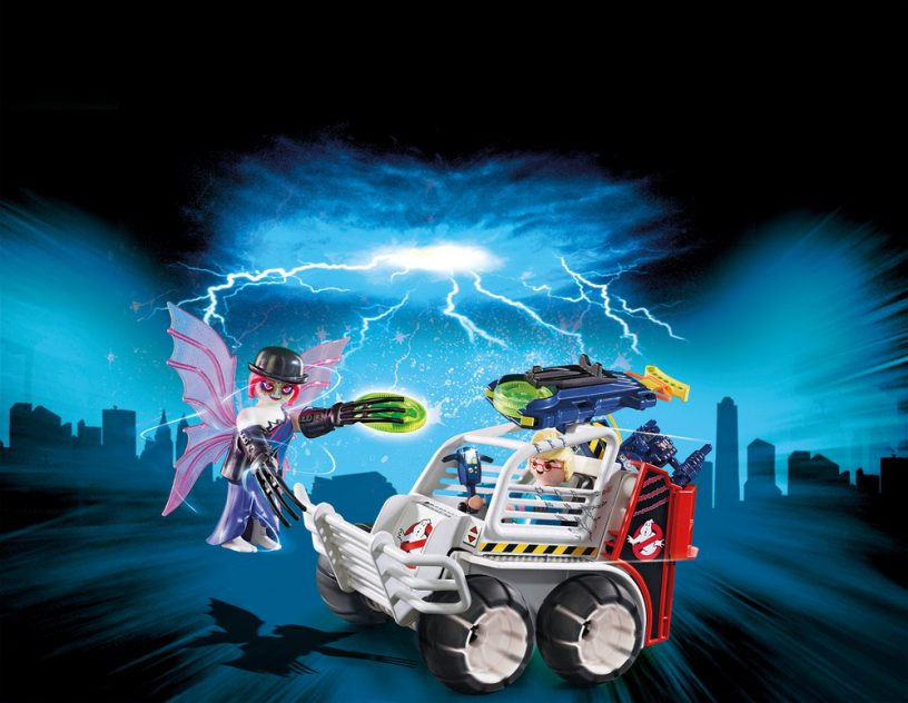 Playmobil The Real Ghostbusters Spengler with Cage Car 9386 NEW