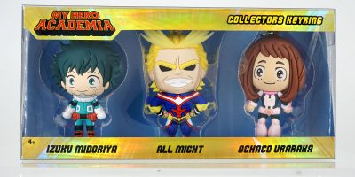 70060 My Hero Academia 3D Foam Keyring 3pc Set