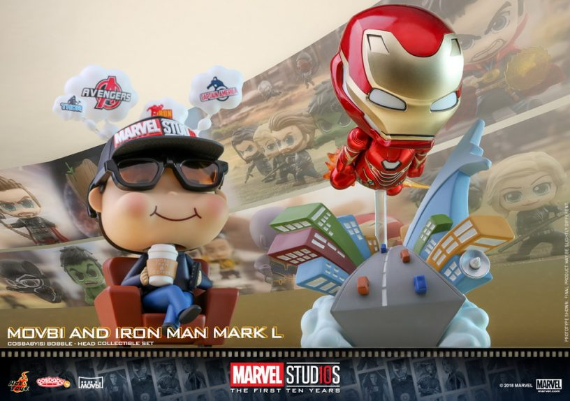 New Hot Toy Marvel Cosbabys: Iron Man, Iron Spider and Movbi
