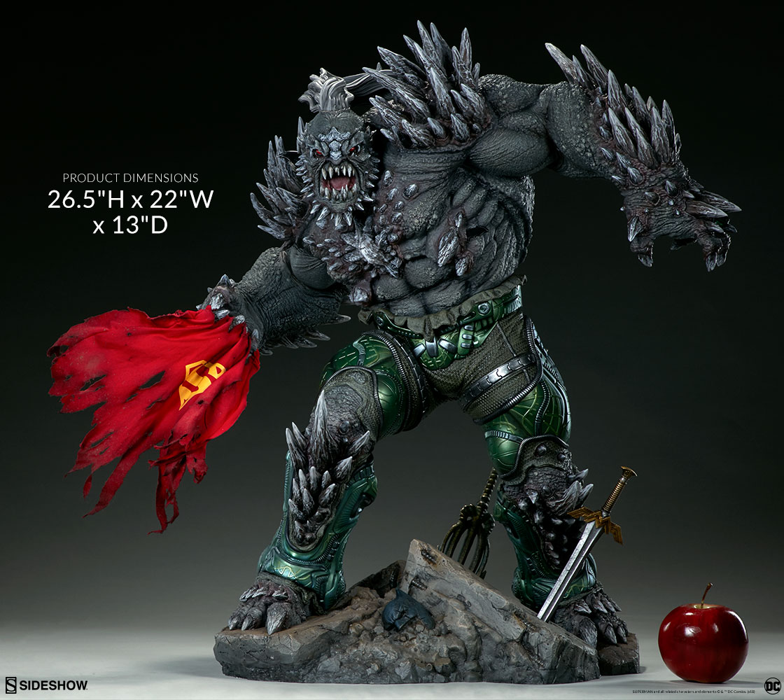 The Ultimate Dc Supervillain New Sideshow Doomsday Maquette