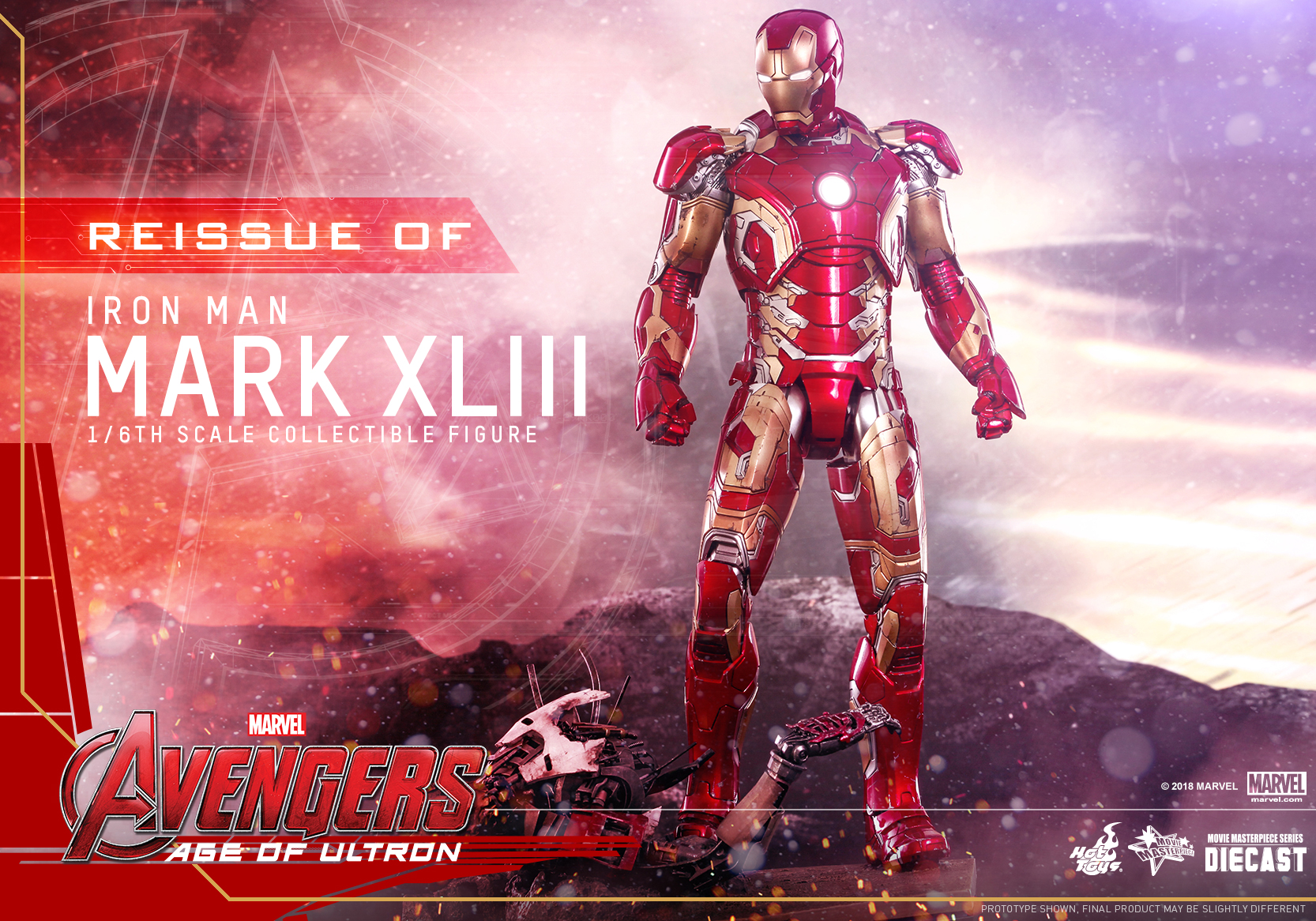 (Reissue) Hot Toys - AAOU - Iron Man Mark XLIII (Diecast) collectible figure_PR1