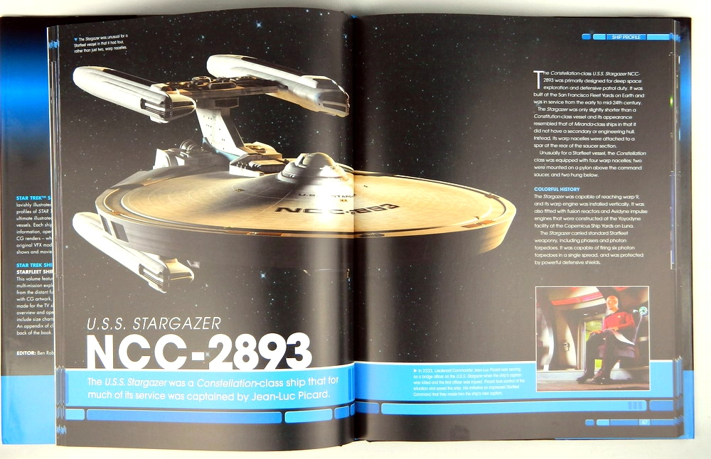 an impressive 240-page hardcover, star trek shipyards: starfleet ships  2294–the future has been officially authorized by cbs studios and expertly  researched