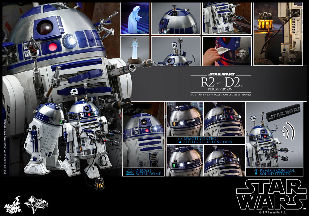Hot Toys - Star Wars - R2-D2 (Deluxe Version) Collectible Figure_PR22