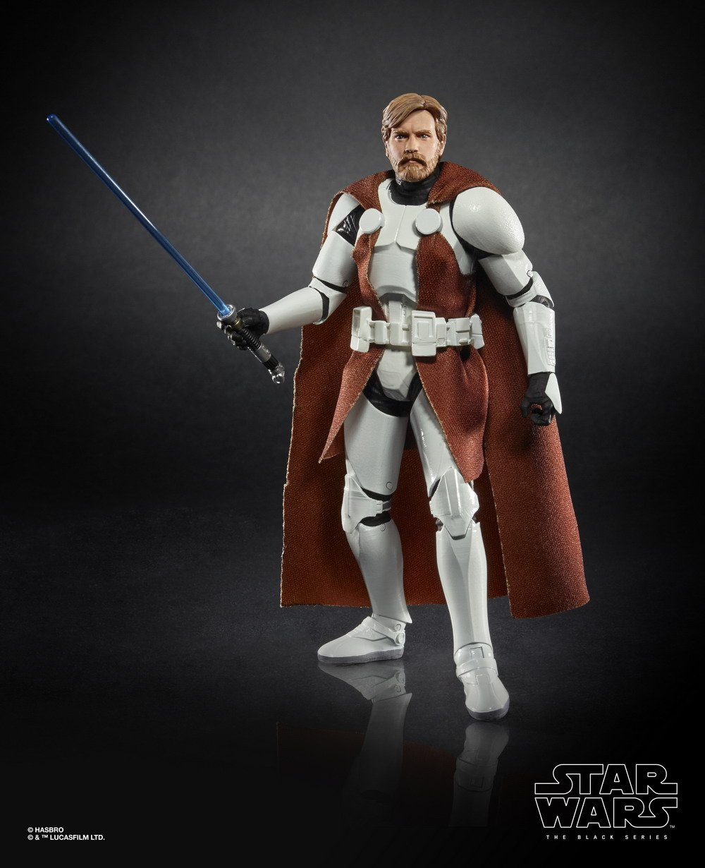 STAR WARS THE BLACK SERIES 6-INCH CLONE COMMANDER OBI-WAN KENOBI Figure (oop 1)