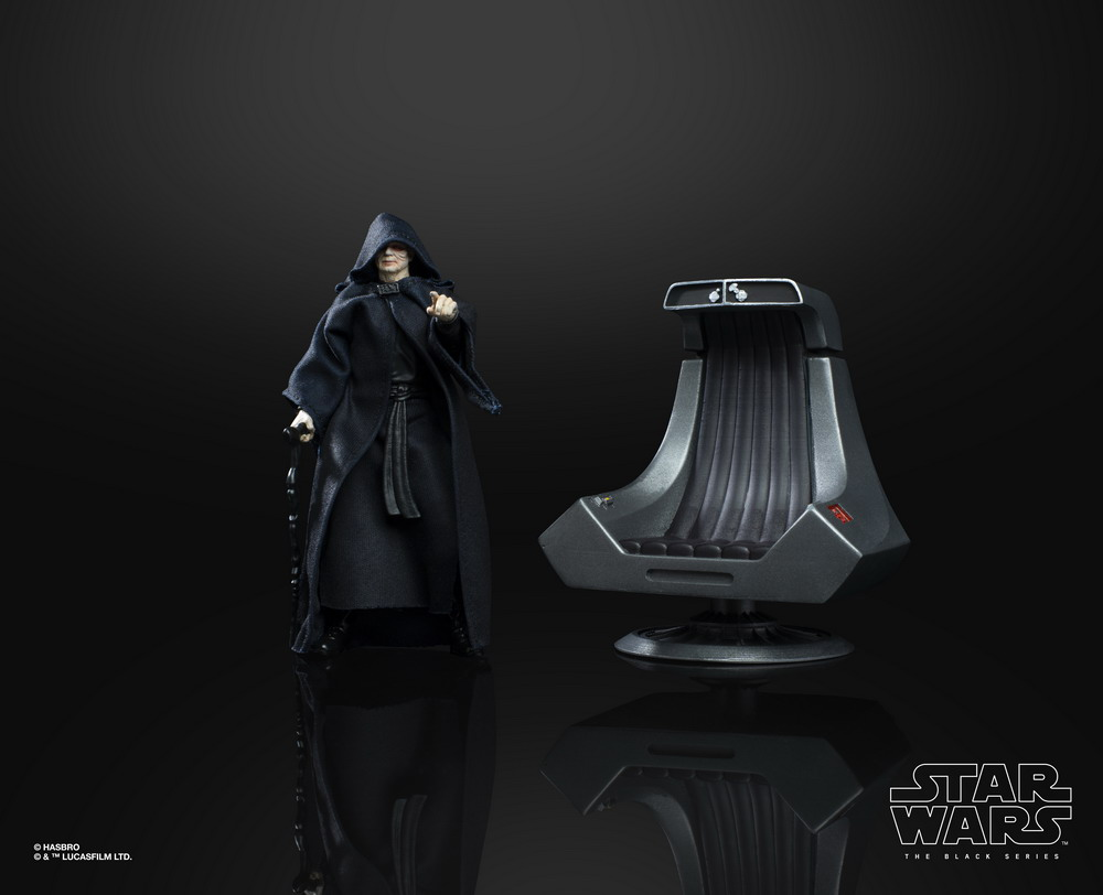 STAR WARS THE BLACK SERIES 6-INCH EMPEROR PALPATINE Figure with Throne (oop 2)