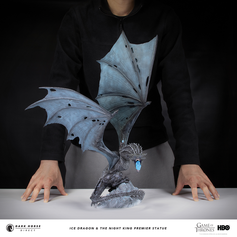 Statuette Night King: Game Of Thrones: Ice Dragon And The Night King Premier