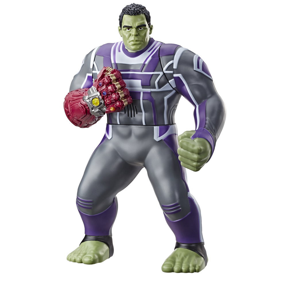 MARVEL AVENGERS ENDGAME POWER PUNCH HULK 14-INCH Figure - oop