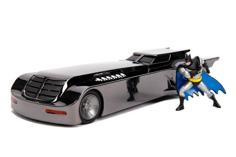 Animated Series Batmobile 1:24 Scale Die-Cast Metal with Batman Figure