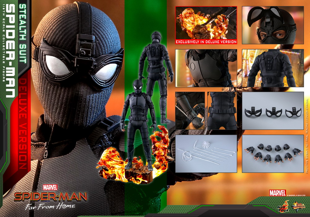 Hot Toys - SMFFH - Spider-Man (Stealth Suit) collectible figure (Deluxe)_PR22