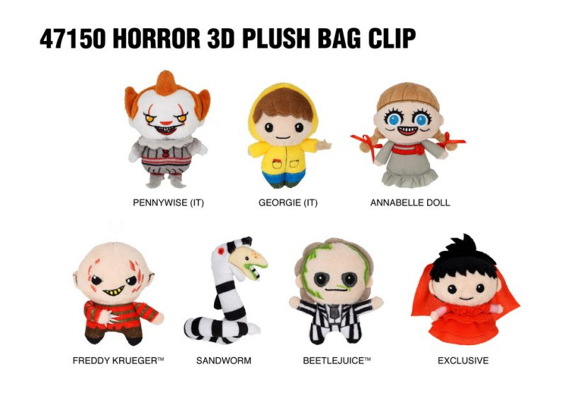 47150 Horror 3D Plush Bag Clip