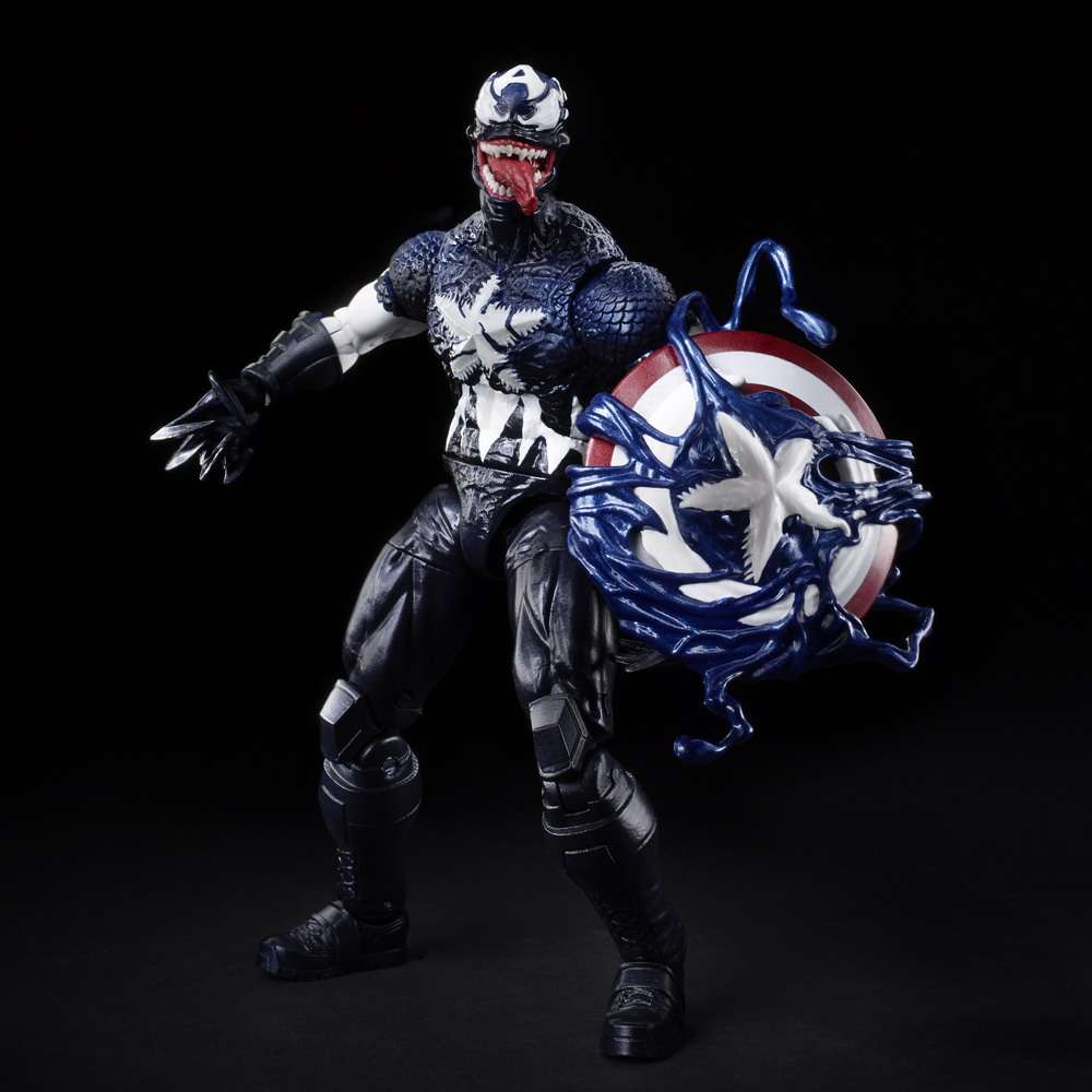 MARVEL LEGENDS SERIES 6-INCH VENOMIZED CAPTAIN AMERICA Figure - oop
