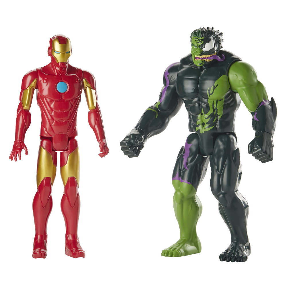 SPIDER-MAN MAX VENOM IRON MAN VS VENOMIZED HULK 2-PACK - oop (2)