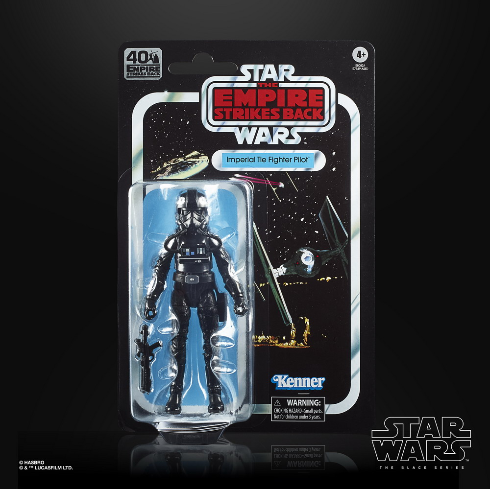 STAR WARS THE BLACK SERIES 40TH ANNIVERSARY 6-INCH IMPERIAL TIE FIGHTER PILOT - in pck