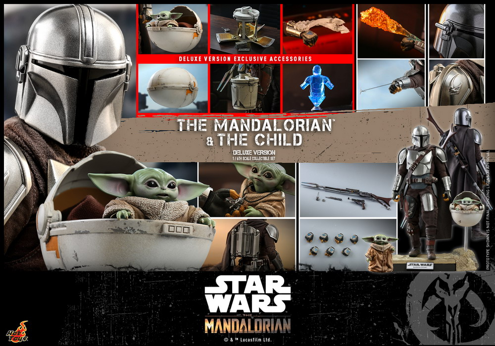 Hot Toys - STM - Mandalorian and Child Collectible Set (Deluxe)_PR26