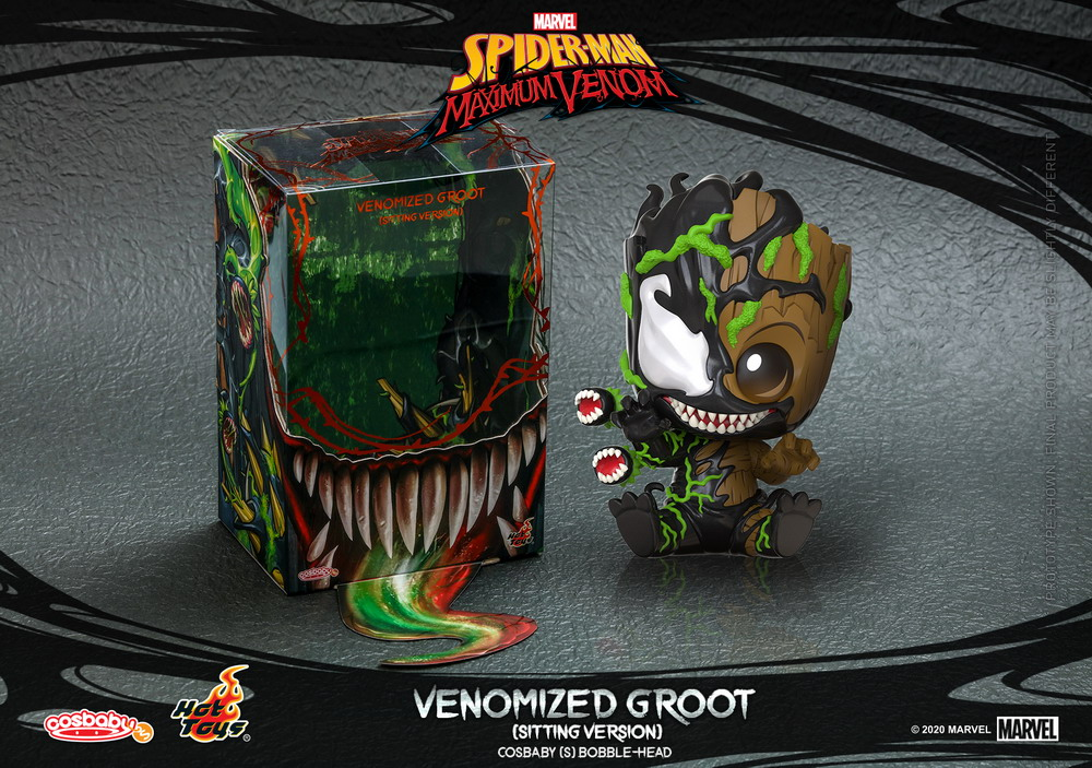 Hot Toys - SMMV - Venomized Groot (Sitting Version) Cosbaby_PR3