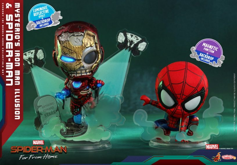 Hot Toys - SMFFH - Mysterios Iron Man Illusion and Spider-Man Cosbaby_PR1