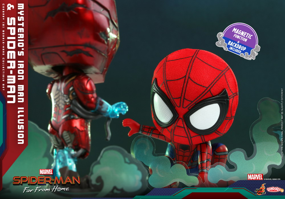 Hot Toys - SMFFH - Mysterios Iron Man Illusion and Spider-Man Cosbaby_PR4