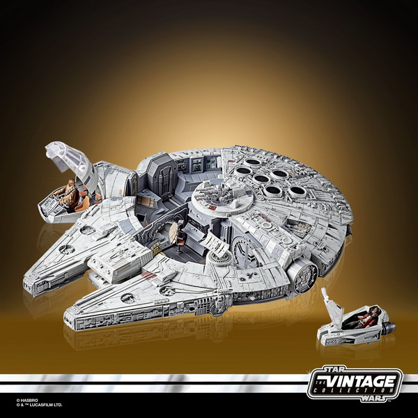 STAR WARS THE VINTAGE COLLECTION GALAXY'S EDGE MILLENNIUM FALCON SMUGGLER'S RUN Vehicle - oop (1)