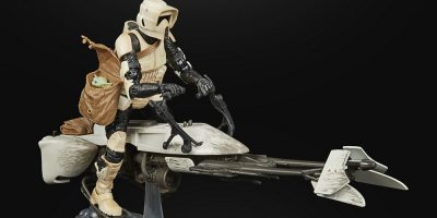 STAR WARS THE BLACK SERIES 6-INCH SPEEDER BIKE SCOUT TROOPER Figure & Vehicle Set - oop (1)