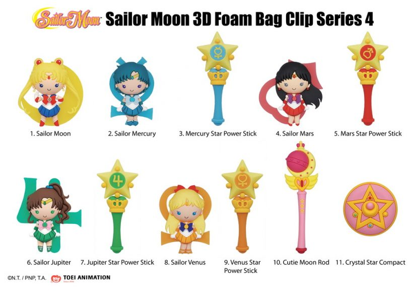 70640 Sailor Moon 3D Foam Bag Clip Series 4 Character Page - photo-01