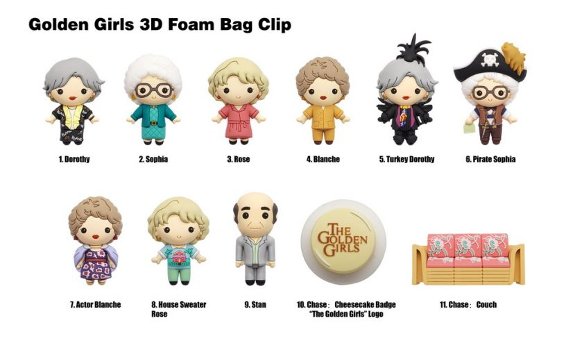85305 Golden Girls 3D Foam Bag Clip Characters-01