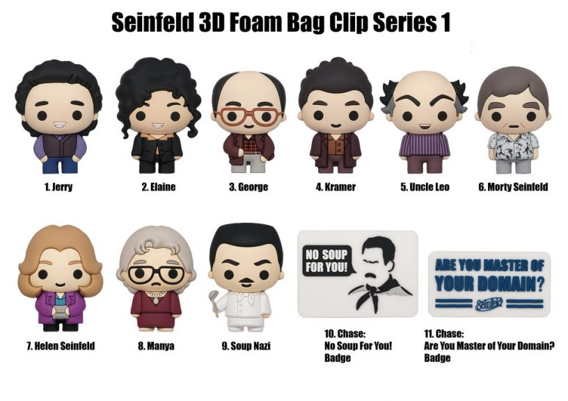 3 Seinfeld TV Luggage Tags Jerry Seinfeld Comedy Comic USA Television Series Re-Purposed Playing Cards Suitcase Name Bag Tag Set