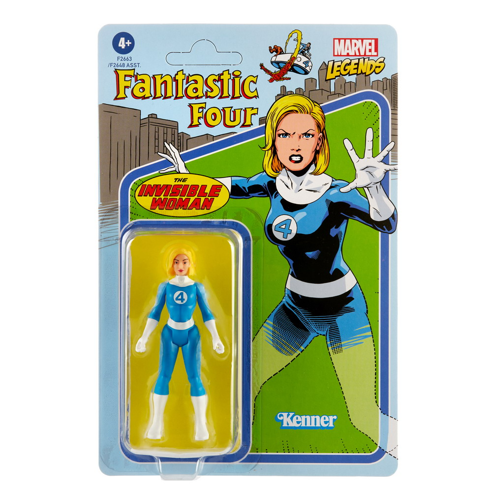 MARVEL LEGENDS SERIES RETRO 3.75 WAVE 3 Figure Assortment - Invisible Woman - in pck