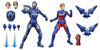 MARVEL LEGENDS SERIES 6-INCH INFINITY SAGA CAPTAIN MARVEL AND RESCUE ARMOR Figure 2-Pack - oop (1)