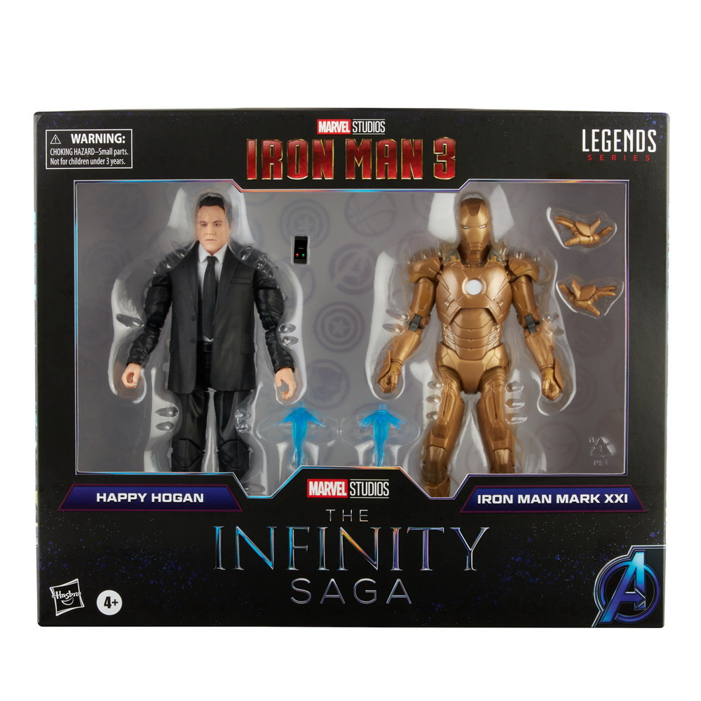 MARVEL LEGENDS SERIES 6-INCH INFINITY SAGA HAPPY HOGAN AND IRON MAN MARK 21 Figure 2-Pack - in pck