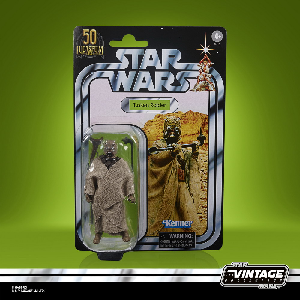 STAR WARS THE VINTAGE COLLECTION LUCASFILM FIRST 50 YEARS 3.75-INCH TUSKEN RAIDER - in pck