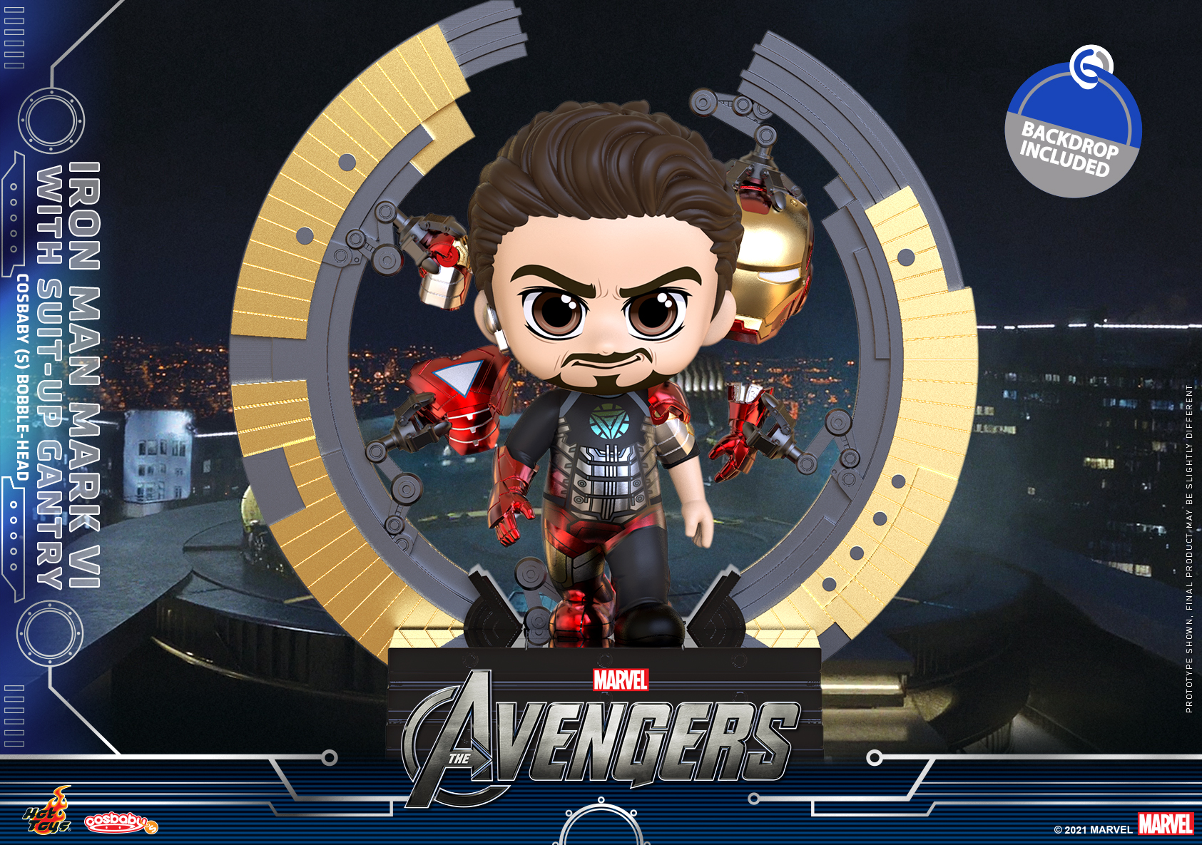 Hot Toys - Avengers - Iron Man Mark VI Gantry with Suit Up Gantry Cosbaby_PR1