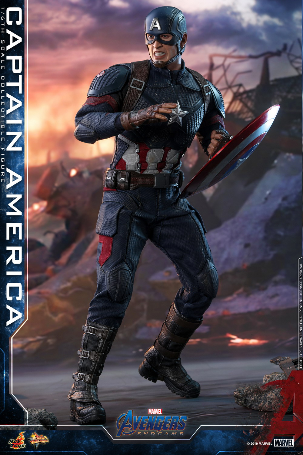 Marvel Avengers Endgame Captain America And Captain Marvel 2 Pack